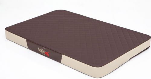 HOBBYDOG Materac Premium - Brązowa kodura z beżową eko-skórą XL