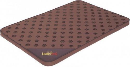 HOBBYDOG Materac Light - Jasny brąz w łapki XL