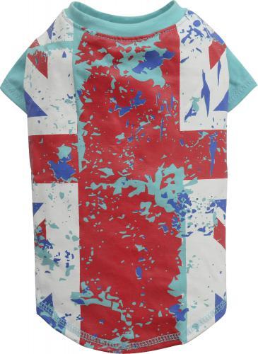 DoggyDolly Koszulka GB, niebieska,L 31-33cm/46-48cm