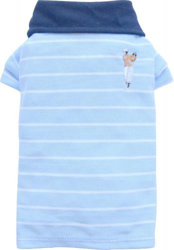 DoggyDolly Koszulka polo w paski, niebieska,L 31-33cm/46-48cm