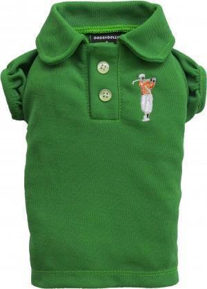 DoggyDolly Koszulka polo, zielona,S 23-25cm/36-38cm
