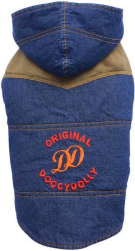 DoggyDolly Kurtka jeansowa Original z kapturem, XS 18-20cm/31-33cm