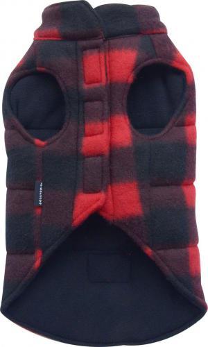 DoggyDolly Kurtka z polaru w kratkę, czerwona, SD-XS 18-20cm/31-33cm - DD-W132-XS