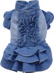 DoggyDolly Sukienka, jeans,XS 18-20cm/31-33cm