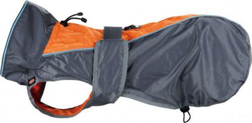 Trixie Płaszczyk przeciwdeszczowy Solid, M: 45 cm, szaro/pomarańczowy