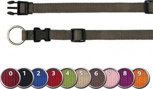 Trixie Obroża Premium, M–L: 35–55 cm/20 mm, bordowa