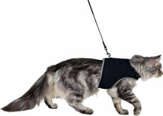 Trixie Szelki dla kota ze smyczą, XL, 36–54 cm, 1,20 m, czarne