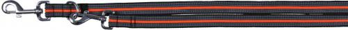 Trixie Smycz Fusion regulowana - Czarno-pomarańczowa 2.5 cm L-XL