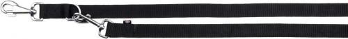 Trixie Smycz Classic regulowana - Czarna 1.5 cm XS-S