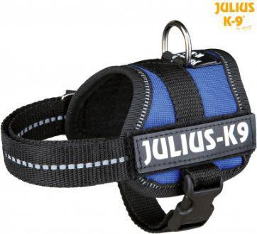 Trixie Uprząż Julius-K9 , Baby 1/XS: 30–40 cm,niebieska