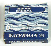 Waterman Naboje do pióra niebiesko-czarne (S0110910)