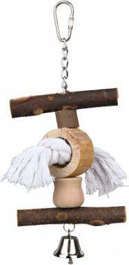 Trixie Zabawka ze sznurem i dzwonkiem Natural Living, 20 cm