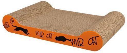Trixie Drapak kartonowy Wild Cat , 41 × 7 × 24 cm, pomarańczowy
