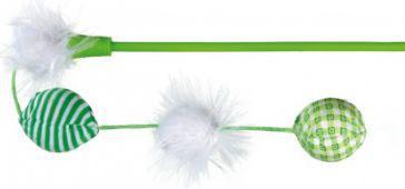 Trixie Wędka dla kota z piłeczkami, 42 cm