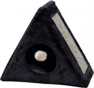 Trixie Pluszowy domek dla kociąt Lera, 44x39x25 cm, antracyt