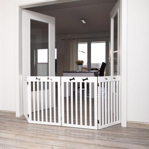 Trixie Barierka drewniana 4-częściowa 60–160×75 cm biała
