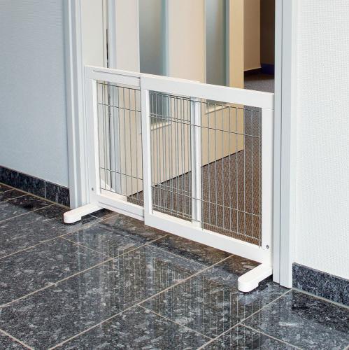 Trixie Barierka metalowa 65–108×61×31 cm biała