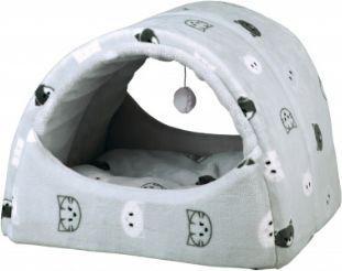 Trixie Domek pluszowy dla kota Mimi, 42 × 35 × 35 cm, szary