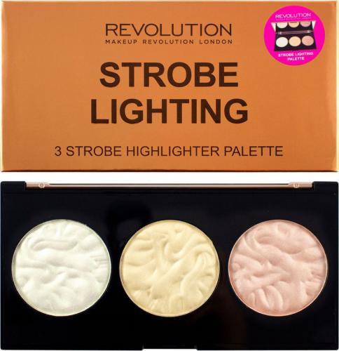Makeup Revolution Strobe Lighting Palette Zestaw 3 rozświetlaczy do twarzy 15g