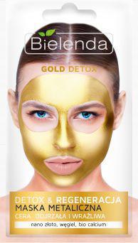 Bielenda Gold Detox Detoksykująca maseczka do cery dojrzałej i wrażliwej 8g
