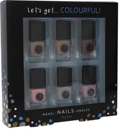 2K Let´s Get Colourful! Nudes Nail Polish Zestaw dla kobiet Lakier do paznokci 6 x 5 ml