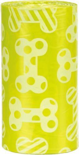 Trixie Woreczki na odchody o zapachu cytrynowym, M,20szt x 4 rolki/op żółte