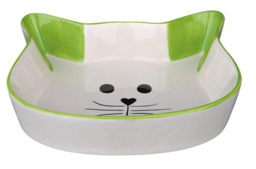 Trixie Miska ceramiczna z wizerunkiem kota, 0.25 l/12 cm
