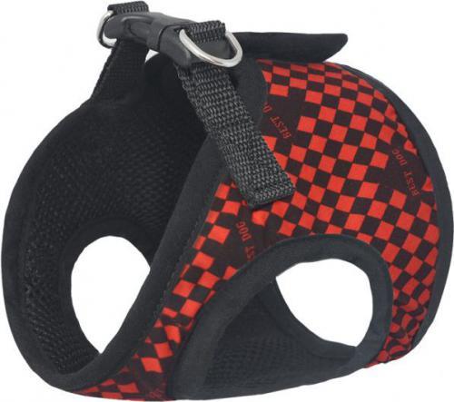 CHABA Szelki materiałowe Standard - Czarno-czerwony S