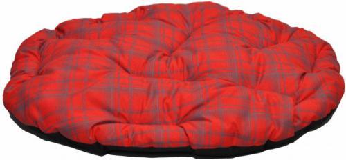 CHABA Poducha owalna Standard - Czerwona kratka 3A