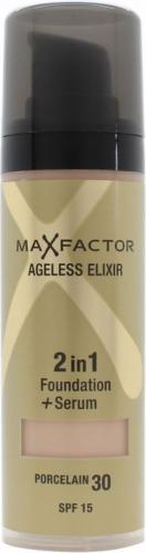 MAX FACTOR Ageless Elixir 2in1 Foundation+Serum SPF15 podkład do twarzy 30 Porcelain 30ml