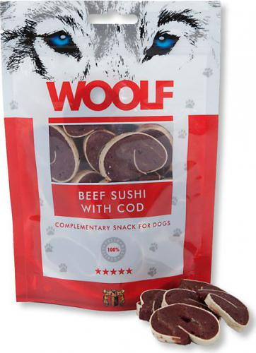Brit WOOLF 100g BEEF SUSHI with COD