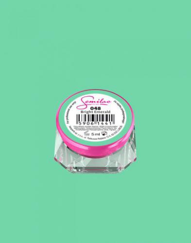 Diamond Cosmetics Żelowy lakier do paznokci 5 ml 048 BRIGHT EMERALD