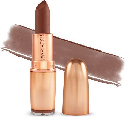Makeup Revolution Iconic Matte Nude Revolution Lipstick Pomadka  3.2g   Inclinati