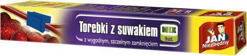 JAN Niezbędny  Torebki do żywności z suwakiem Mix 9szt (ZZAJAN255.)