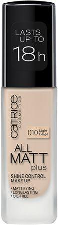 Catrice All Matt Plus  podkład w płynie 010 Light Beige 30ml