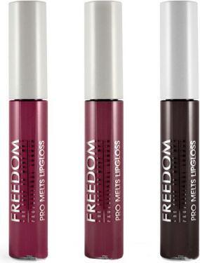 Freedom Pro Melts Vamp Collection Zestaw 3 błyszczyków do ust