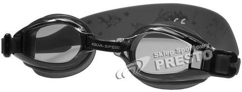 Aqua-Speed OKULARKI PŁYWACKIE ACCENT 07 czarny (40111)