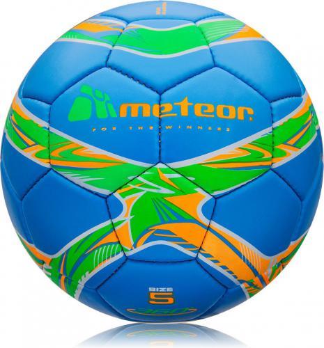 Meteor Piłka nożna 360° MAT HS niebieska (00077)