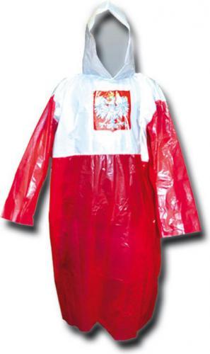 Axer PELERYNA PRZECIWDESZCZOWA biało-czerwona (A2708)