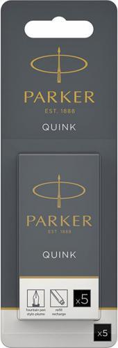 Parker Atrament QUINK, czarny, 5 sztuk (1950402)