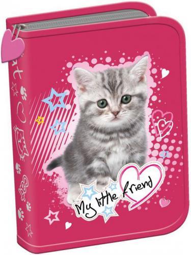 Piórnik MAJEWSKI dwuklapkowy bez wypos. My Little Friend Kot