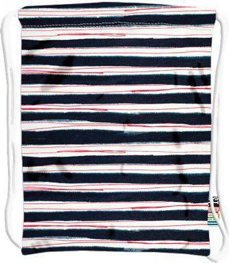 St. Majewski Worek na obuwie Stright SO-10 Stripes biało-czarny