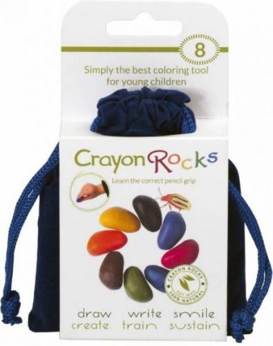 Crayon Rocks Kredki Crayon Rocks w aksamitnym woreczku  - 8 kolorów (CRBVE8)