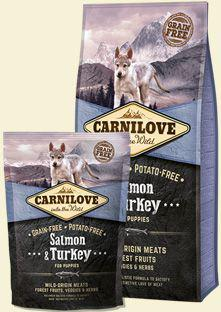 CARNILOVE Salmon & Turkey For Puppies - 1.5 kg