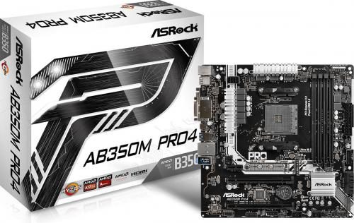 Płyta główna ASRock AB350M PRO4, B350, DDR4, SATA3, USB3.0, uATX