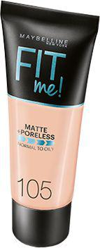 Maybelline  Fit Me Liquid Foundation matujący podkład do twarzy 105 Natural Ivory 30ml