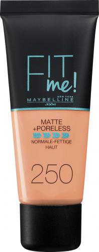Maybelline  Fit Me Liquid Foundation matujący podkład do twarzy 250 Sun Beige 30ml