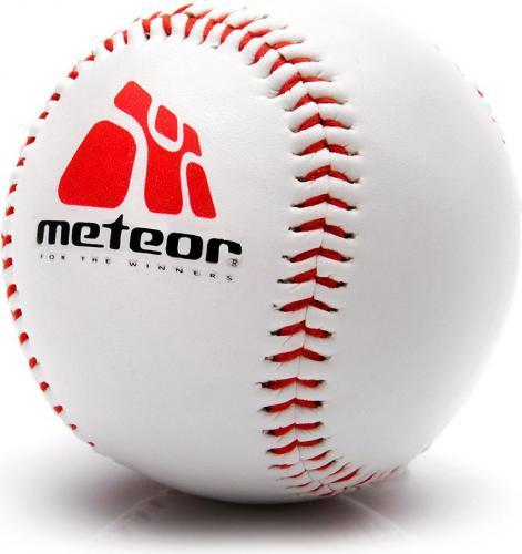 Meteor Piłka Baseball Skóra Syntetyczna Guma 226g (13131)