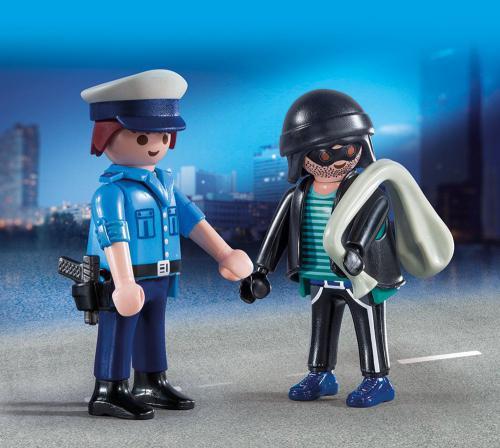 Playmobil Duo Pack policeman and Langfinger (9218)
