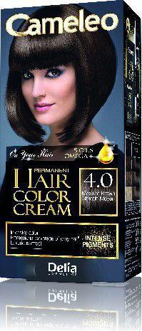 Delia Cosmetics Cameleo HCC Farba permanentna Omega+ nr 4.0  Medium Brown  1op